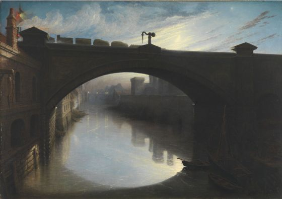 Paton, Waller Hugh: Railway Bridge over the River Cart, Paisley. Fine Art Print/Poster. (004310)